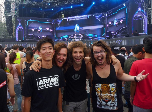 2014-03-14 - 031 - ASOT 650 - Albert, Nic, Alec, and Matt are pumped.